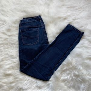 American Eagle Hi-Rise Blue Skinny Jeans 8